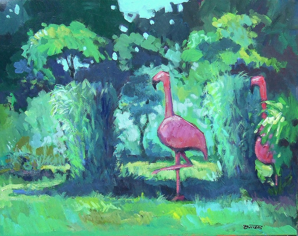 Ruthie's Steel Flamingos